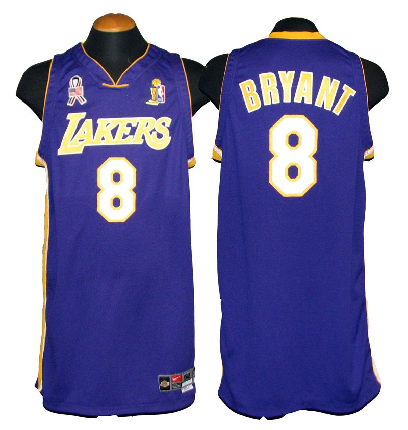 a25276a50 2001-2002 Kobe Bryant Los Angeles Lakers Game-Used Jersey with 9 11 ...