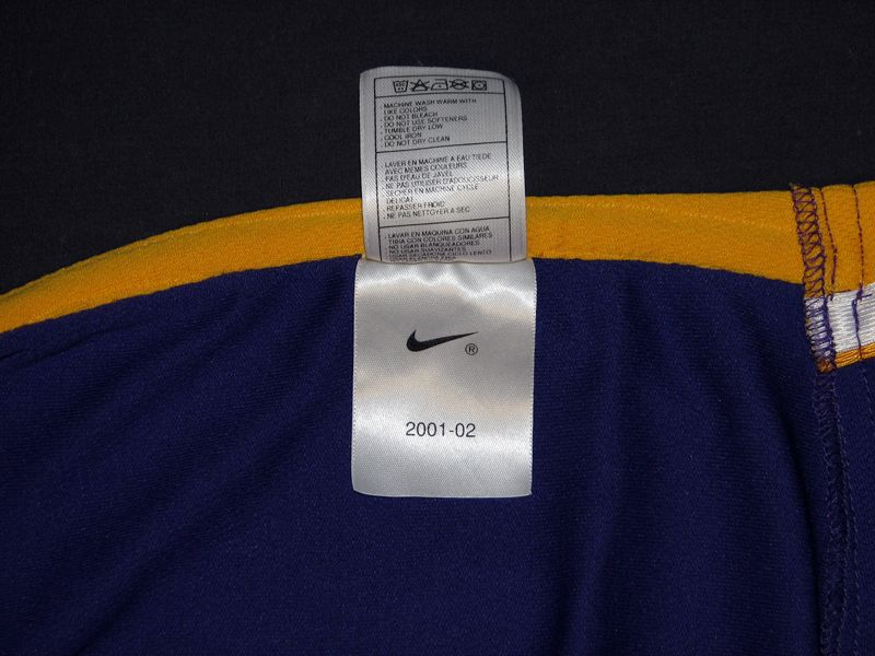 75a178af8 ... 2001-2002 Kobe Bryant Los Angeles Lakers Game-Used Jersey with 9 11 ...