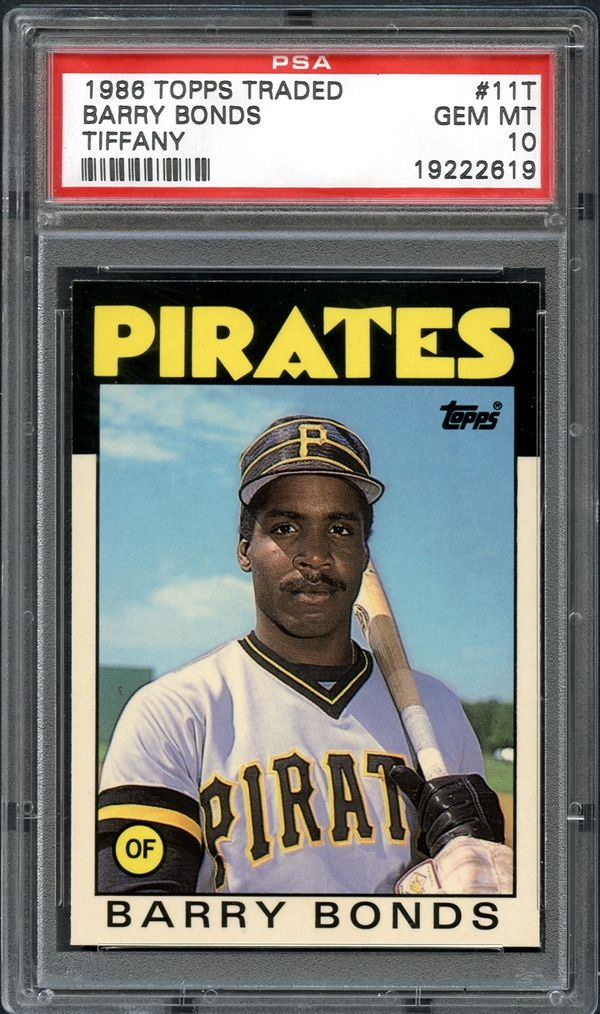 Lot Detail 1986 Topps Traded Tiffany 11t Barry Bonds