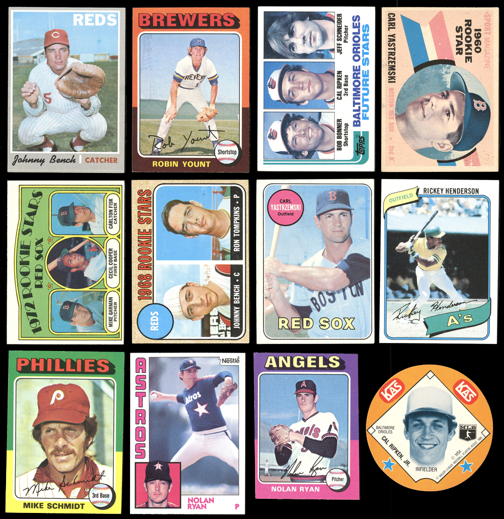 Lot Detail 1960s 80s Topps Etc Rookie And Hof Group Of