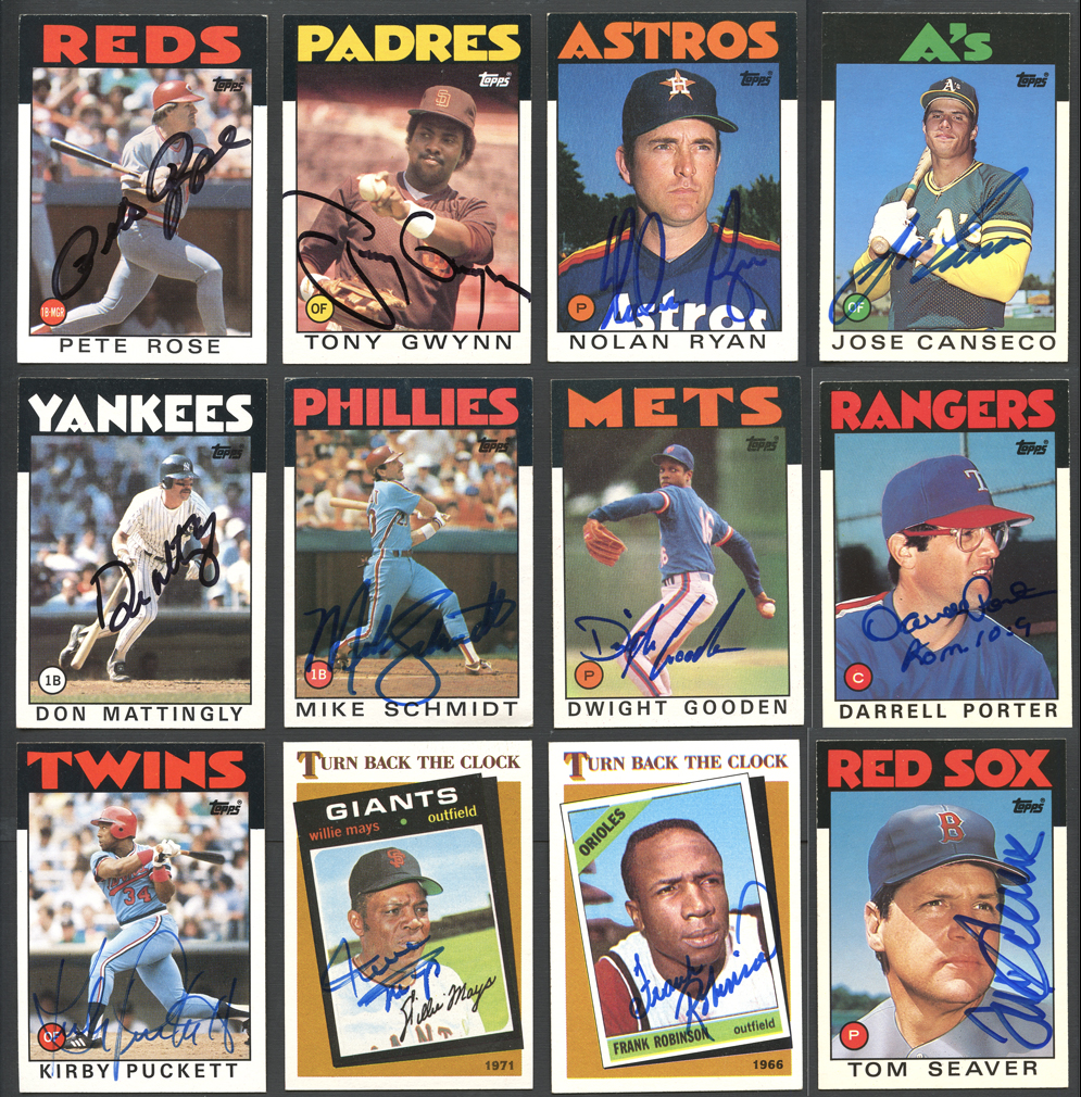 1986 Topps And Topps Traded Complete Sets Of