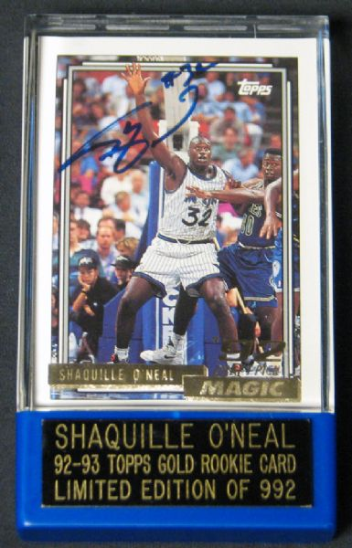 Lot Detail 1992 93 Topps Gold 362 Shaquille Oneal