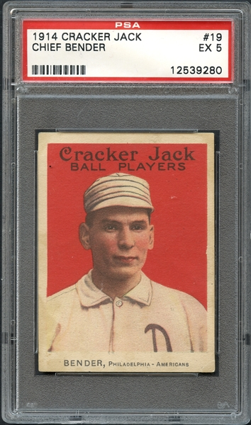 lot detail 1914 cracker jack 19 chief bender psa 5 ex