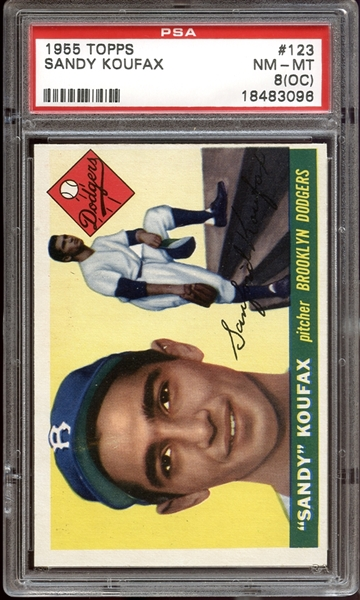 sandy koufax, graded card, baseball card