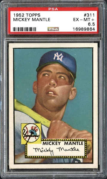 baseball cards, Mickey Mantle