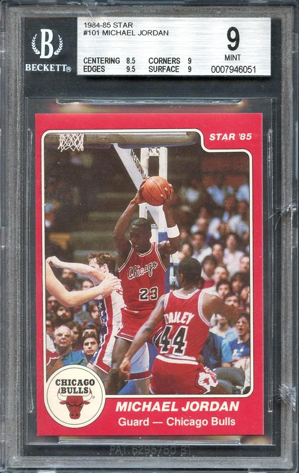 1984 85 Star 101 Michael Jordan BGS 9 MINT