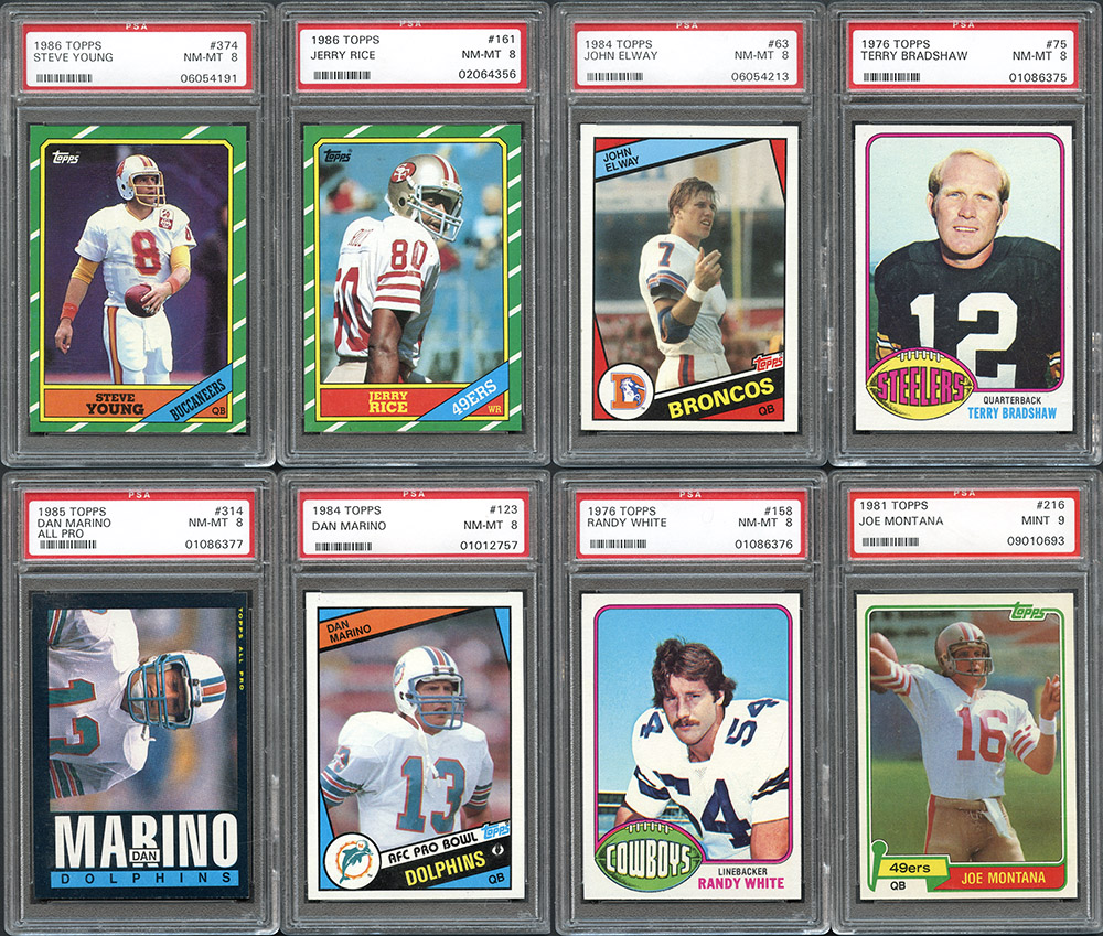 1970-1986 Topps Football Near Complete Sets