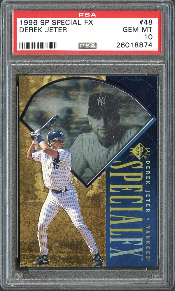 Lot Detail 1996 Sp Special Fx 48 Derek Jeter Rookie Card