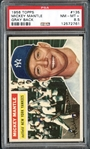 1956 Topps #135 Mickey Mantle Gray Back PSA 8.5 NM/MT+