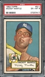 1952 Topps #311 Mickey Mantle PSA 6 EX/MT