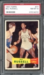 1957 Topps #377 Bill Russell PSA 8 NM/MT