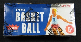 vintage basketball cards, 1961, fleer, unopened, wax box, bbce