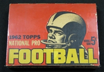 vintage football cards, 1962, unopened, wax box, bbce