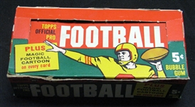 1960 Topps Football Group of (6) Wax Packs Plus Display Box