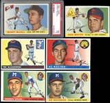 1955 Topps Group of (164) with Hall of Famers