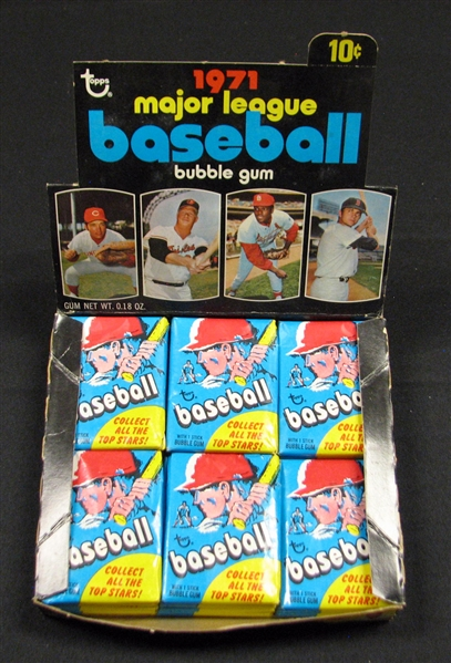 1971 Topps Baseball Nearly Full First Series Unopened Wax Box (23/24) BBCE