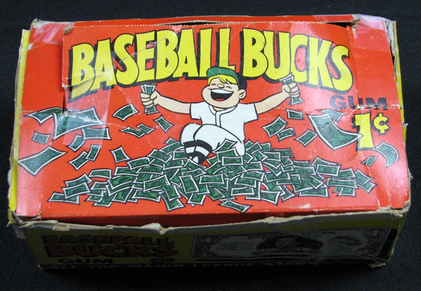 1962 Topps Baseball Bucks Nearly Full Unopened Wax Box (119/120) BBCE