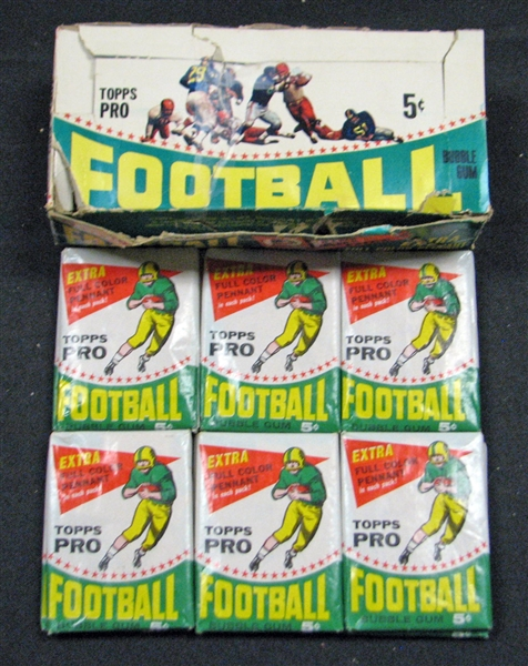 1964 Topps Football Nearly Full Unopened Wax Box Six Cards Per Pack (23/24) (BBCE)