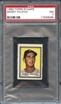 1962 Topps Stamps Sandy Koufax PSA 7 NM