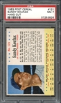 1963 Post Cereal #121 Sandy Koufax PSA 7 NM