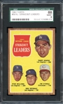 1962 Topps #60 NL Strikeout Kings SGC 88 NM/MT 8