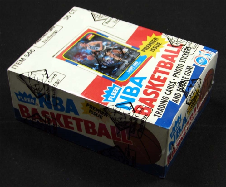 1986-87 Fleer Basketball Unopened Wax Box (BBCE)