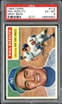 1956 Topps #113 Phil Rizzuto Gray Back PSA 6 EX/MT