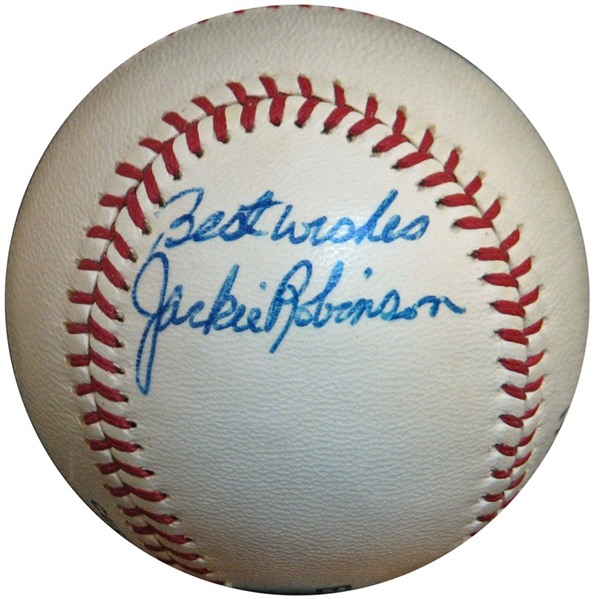 Jackie Robinson Signed Ball