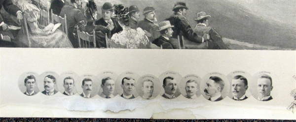 Extraordinary Example of the 1894 Temple Cup Print by Hy Sandham Signed by Sandham