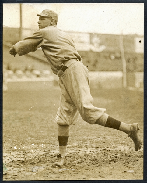 Spectacular Babe Ruth Rookie-Era Type I Original News Photo (Underwood and Underwood) in Red Sox Uniform