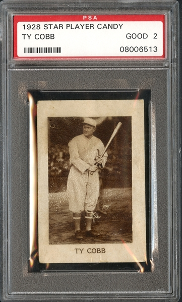 1928 Star Player Candy Ty Cobb PSA 2 GOOD