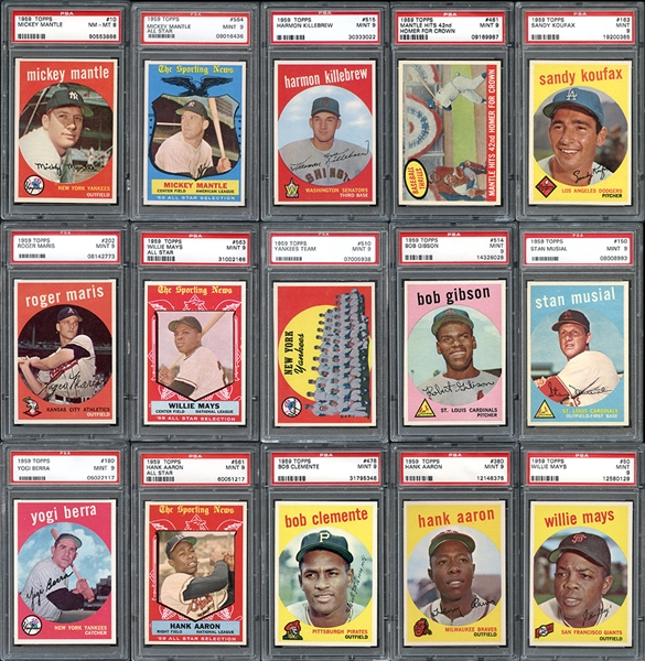 1959 Topps Baseball Complete Set #3 on PSA Set Registry with Set Rating 9.48