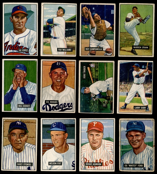 1951 Bowman Baseball Near Set (260/324)