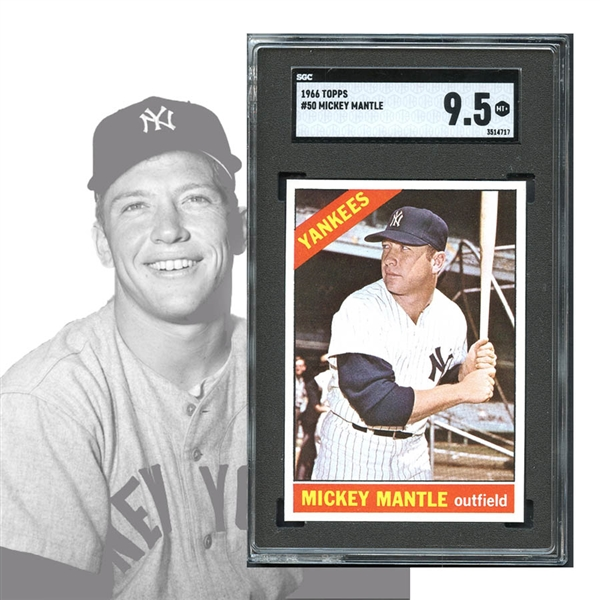Lot Detail 1966 Topps 50 Mickey Mantle Sgc 95 Mint