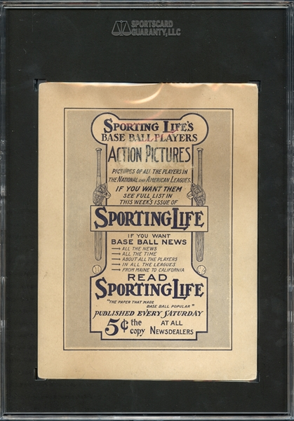 1911 M110 Sporting Life Christy Mathewson SGC 30 GOOD 2