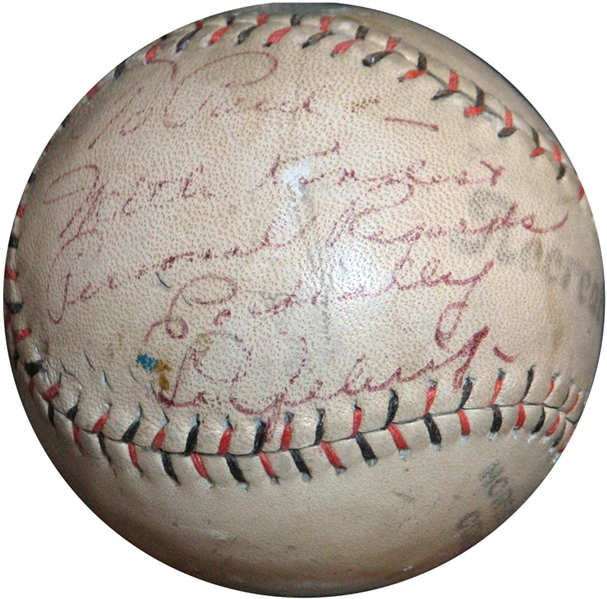 Lou Gehrig Single-Signed and Inscribed Baseball