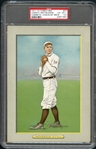 1911 T3 Turkey Red #27 Christy Mathewson Checklist Back PSA 4.5 EX+