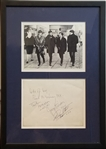 Spectacular 1963 The Beatles Signed Photograph with All Four Members