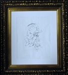Jerry Garcia Jester Original Pencil Drawing by Stanley Mouse