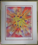 "Jerry Garcia Signed ""Facets II"" Offset Lithograph  46/500 ( J. Garcia 1991)"