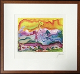 "Jerry Garcia Signed ""Feeding in the Light"" Offset Lithography 59/500 (J. Garcia 1990)"