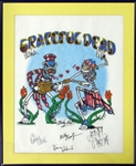 Grateful Dead Multi-Signed T-Shirt with (6) Signatures PSA/DNA