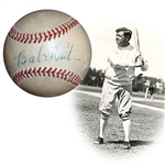 Outstanding Babe Ruth Single-Signed OAL (Harridge) Ball
