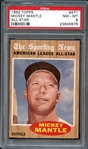 1962 Topps #471 Mickey Mantle All Star PSA 8 NM/MT