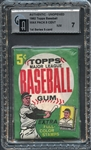 1962 Topps Baseball First Series Wax Pack 5 Cent GAI 7 NM