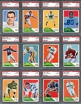 1960 Fleer Football Group of (26) Cards All PSA MINT 9