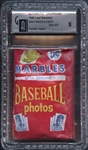 1960 Leaf Baseball Unopened Wax Pack 5-Cent GAI 8 NM/MT