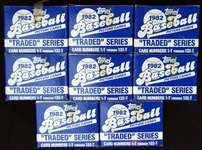 1982 Topps Traded Baseball Complete Set Group of (8)