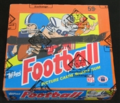 1985 Topps Football Unopened Cello Box BBCE