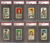 Spectacular 1909-11 T206 Near-Complete Set (477/520) All PSA Graded #8 on PSA Set Registry